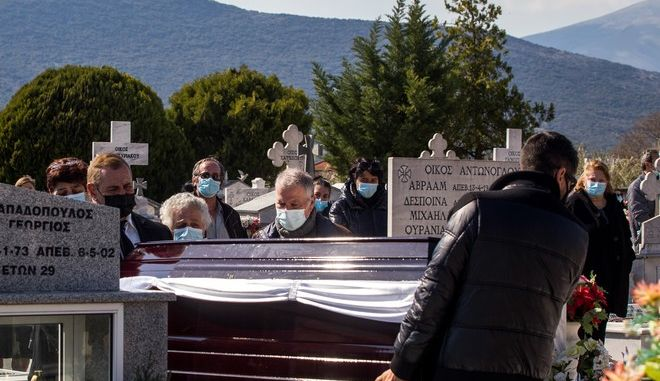 Κηδεία του δημοσιογράφου Γιώργου Καραϊβάζ