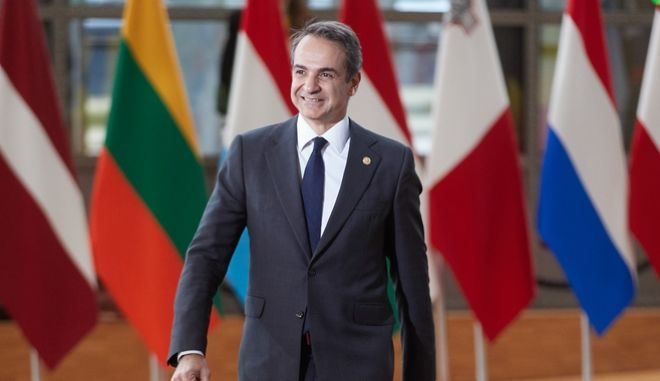 Ο Πρωθυπουργός Κυριάκος Μητσοτάκης στη Σύνοδο Κορυφής της ΕΕ