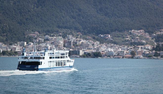 Στιγμιότυπο από το δρομολόγιο του πλοίου με προορισμό την Κέρκυρα την Μεγ. Πέμπτη 13 Απριλίου 2017. (EUROKINISSI/ΣΩΤΗΡΗΣ ΔΗΜΗΤΡΟΠΟΥΛΟΣ)