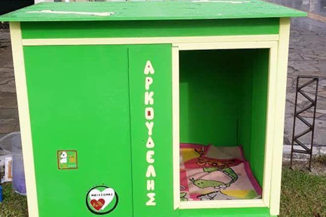 Σπίτι φτιαγμένο στα μέτρα του, για αδέσποτο σκύλο της πόλης, εγκατέστησαν φιλόζωοι