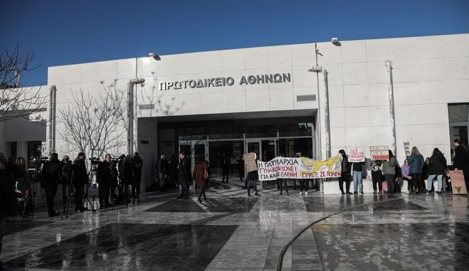 Δίκη για την δολοφονία της φοιτήτριας Ελένης Τοπαλούδη στη Ρόδο στο Μεικτό Ορκωτό Δικαστήριο της Αθήνας (EUROKINISSI/ΓΙΑΝΝΗΣ ΠΑΝΑΓΟΠΟΥΛΟΣ)