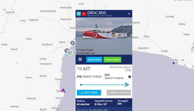 Τουρκικά ΜΜΕ: Έτοιμο να αποπλεύσει το Oruc Reis