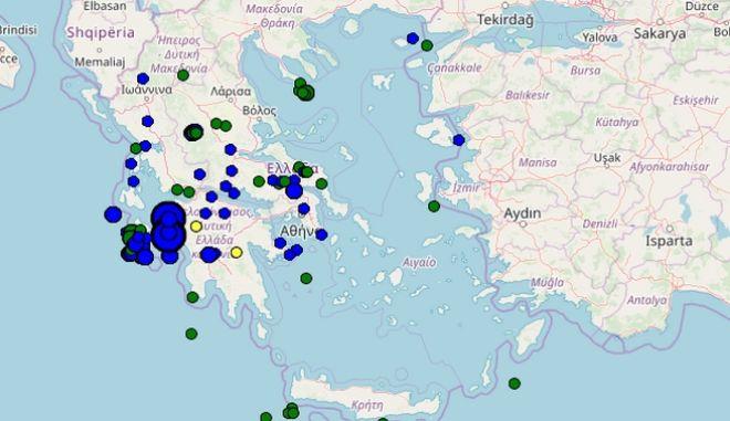 Νέος σεισμός στην Ηλεία, ανοιχτά της Κυλλήνης