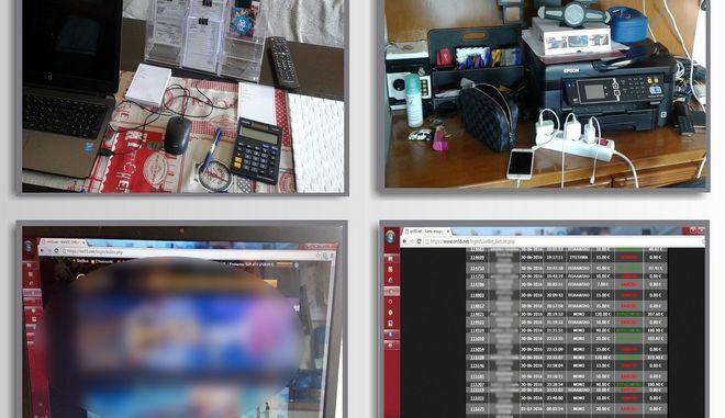 Τεράστιο το πελατολόγιο και ο κύκλος κερδών παράνομης ιστοσελίδας στοιχηματισμού με έδρα τη Λάρισα