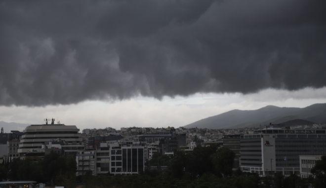 Σύννεφα καταιγίδας. Φωτό αρχείου.