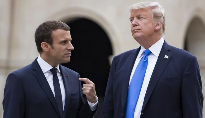 Ο Εμανουέλ Μακρόν με τον Ντόναλντ Τραμπ σε παλαιότερη συνάντηση