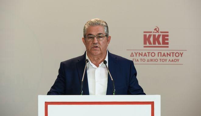 Ο Δημήτρης Κουτσούμπας, Γενικός Γραμματέας του ΚΚΕ