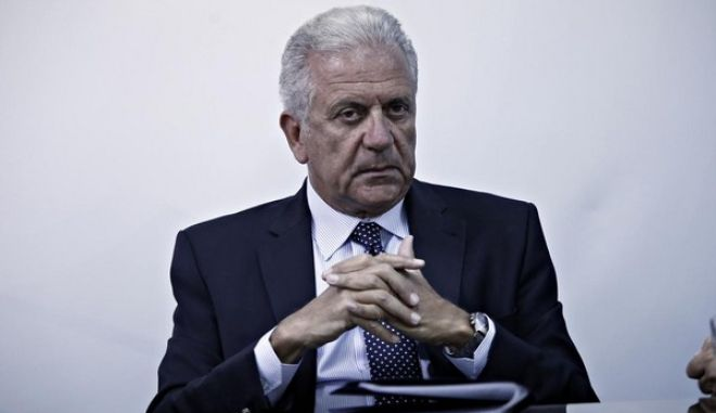 D.Avramopoulos in meeting with Greek government officials to discuss the major migration and refugee crisis, Athens, on 13 August, 2015 /      .   , ,  13 , 2015