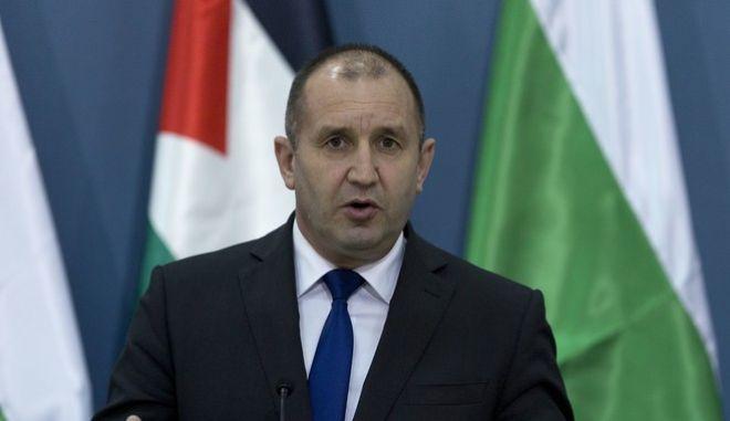 Ο Βούλγαρος πρόεδρος Ρούμεν Ράντεφ