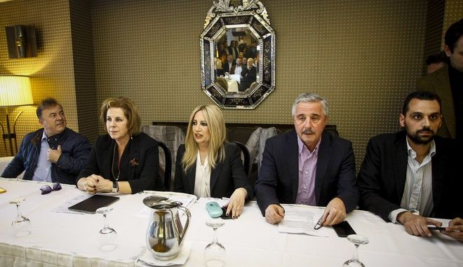 Η πρόεδρος του Κινήματος Αλλαγής Φώφη Γεννηματά  σε συνάντηση με κατοίκους του Ματιού