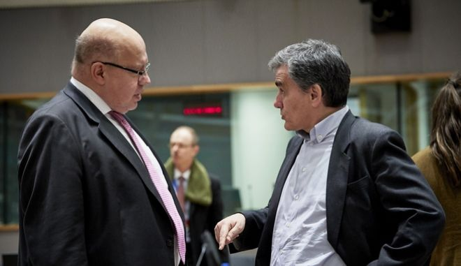 Ο ΥΠΟΙΚ Ευκλείδης Τσακαλώτος σε παλιότερη συνεδρίαση του Eurogroup στις; Βρυξέλλες