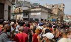 Αντικυβερνητική διαδήλωση στην Αβάνα της Κούβας, 11 Ιουλίου 2021. Διαμαρτύρονται για τις συνεχιζόμενες ελλείψεις τροφίμων και τις υψηλές τιμές τους