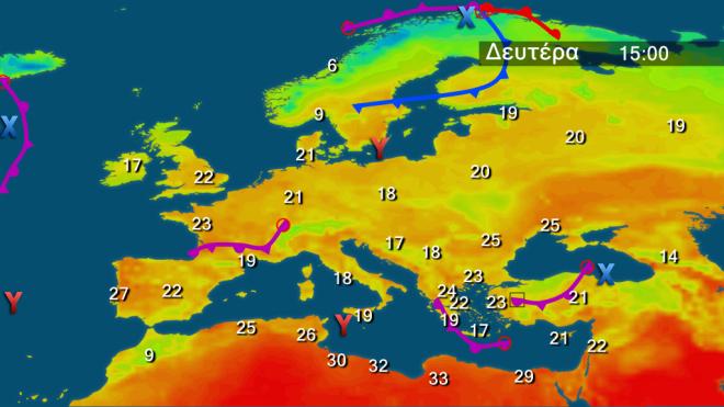 Πρόβλεψη θερμοκρασίας στην Ευρώπη