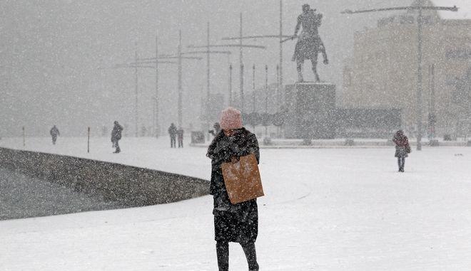 Χιονόπτωση στην Θεσσαλονίκη