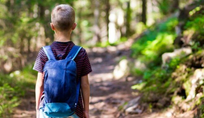 Ένα παιδί στη φύση