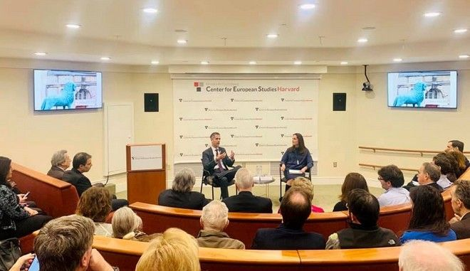 Ο Κώστας Μπακογιάννης στο Harvard