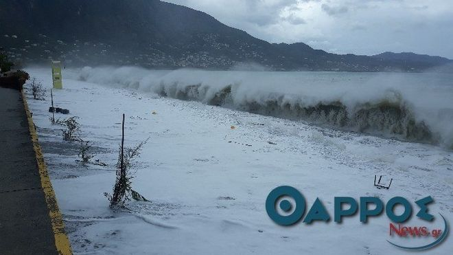 Σαρώνει τη Μεσσηνία ο μεσογειακός κυκλώνας Ζορμπάς