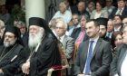 Ο υπουργός Εσωτερικών Αλέξης Χαρίτσης και ο Αρχιεπίσκοπος Αθηνών κ. Ιερώνυμος
