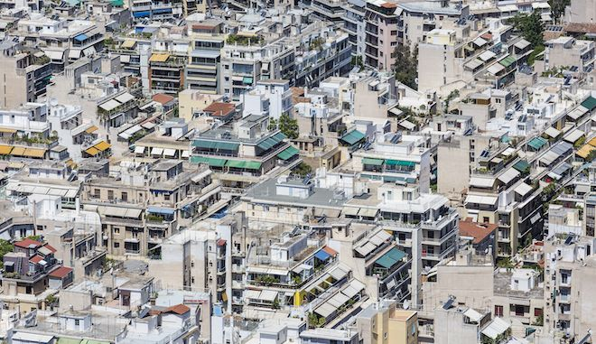 Πυκνοκατοικημένη περιοχή της Αθήνας
