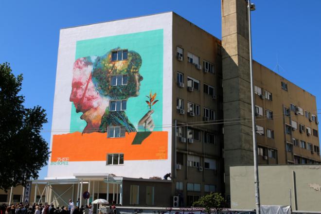Γκράφιτι για τη δωρεά οργάνων στο Νοσοκομείο ΑΧΕΠΑ