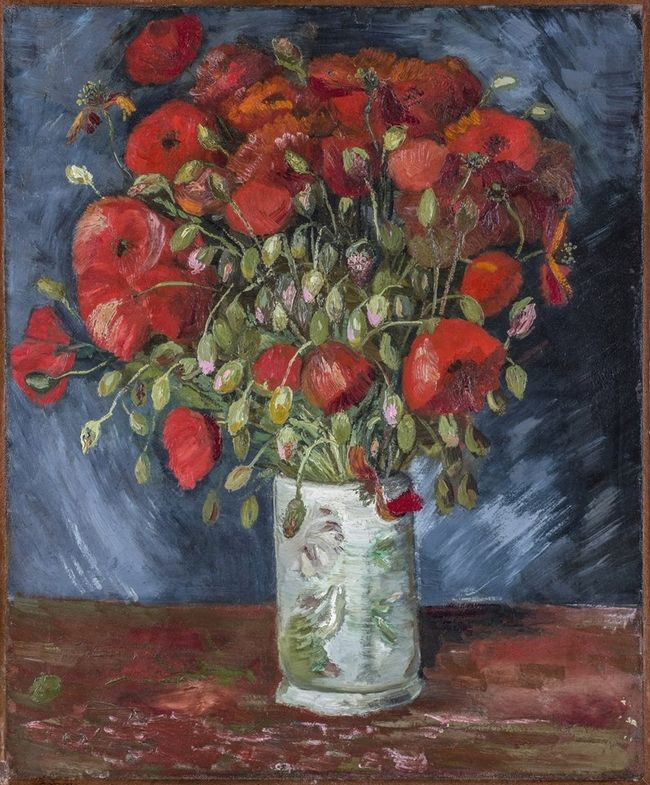 Vincent Van Gogh (Dutch, 1853-1890), Vase with Poppies, c. 1886.