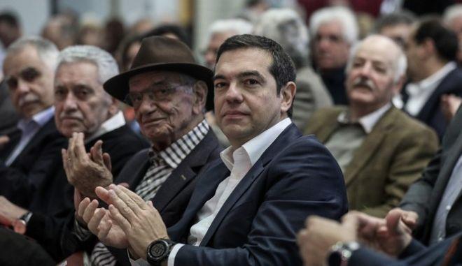 Ο Αλέξης Τσίπρας στη συνεδρίαση της Κεντρικής Επιτροπής Ανασυγκρότησης του ΣΥΡΙΖΑ