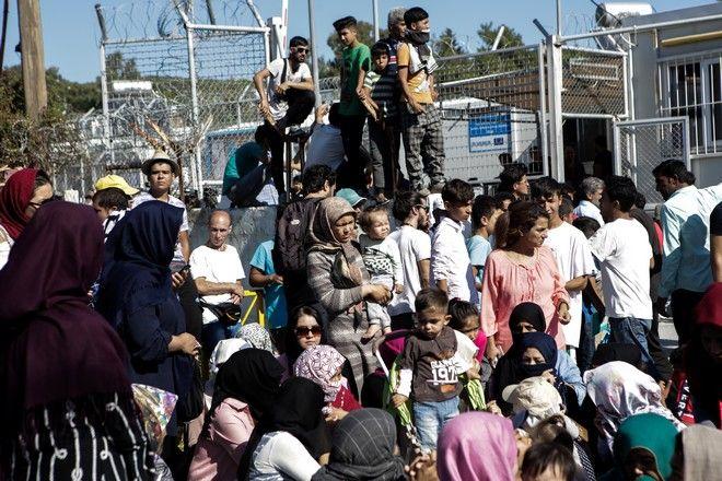 Διαμαρτυρία των προσφύγων και των μεταναστών που μένουν στο Κέντρο Υποδοχής και Ταυτοποίησης στην Μόρια της Λέσβου