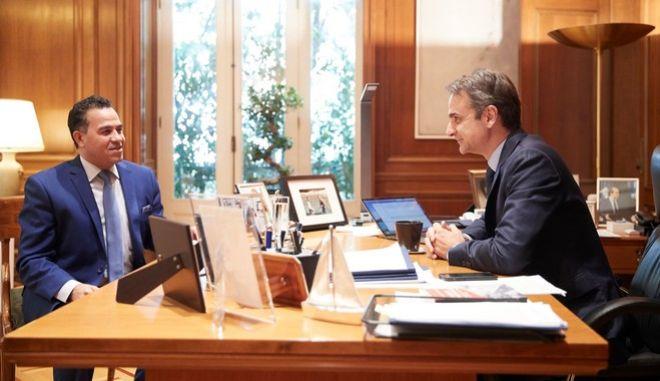 Στιγμιότυπο από την συνέντευξη του πρωθυπουργού στην Αl Ahram