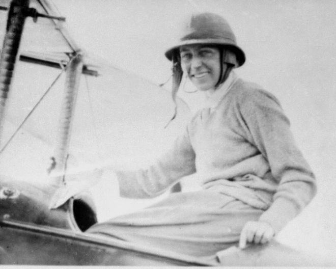 Aviator Amy Johnson, Englishwoman, is pictured in Darwin, Northern Territory, Australia upon the completion of her record-breaking solo flight from south of London, England, May 24, 1930. (AP Photo)