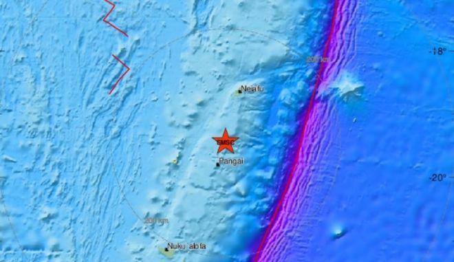 Ισχυρός σεισμός 6,4 Ρίχτερ στην Τόνγκα