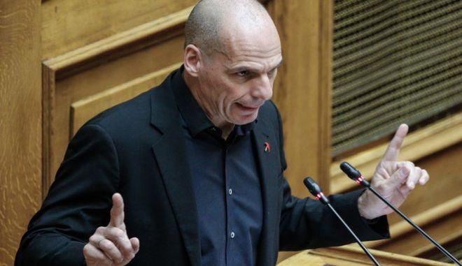 Την έντονη ανησυχία του για τις πιθανές αποφάσεις του Eurogroup εξέφρασε ο ο Γραμματέας του ΜέΡΑ 25, Γιάνης Βαρουφάκης. (EUROKINISSI/ΓΙΩΡΓΟΣ ΚΟΝΤΑΡΙΝΗΣ)