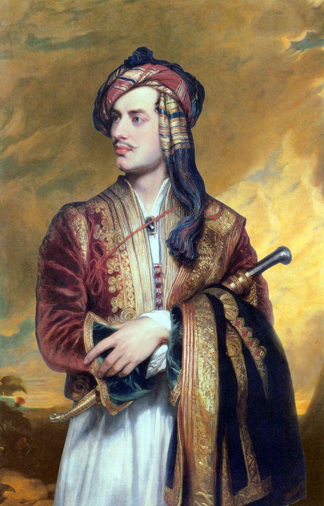 Ο Βρετανός ποιητής, Λόρδος Βύρων, ζωγραφισμένος από τον Thomas Phillips το 1813.
