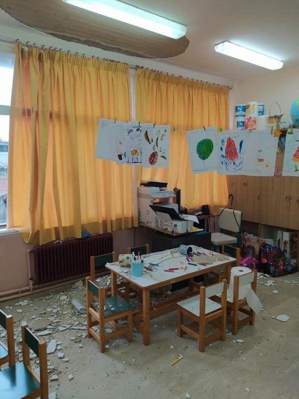 Κέρκυρα: Έπεσαν σοβάδες σε νηπιαγωγείο - Από θαύμα γλίτωσαν μαθητές