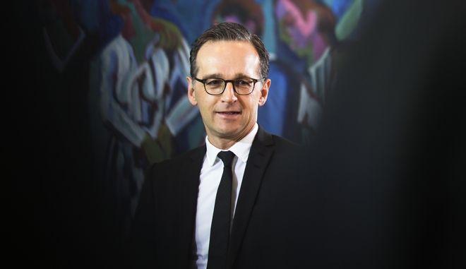 Ο υπουργός Εξωτερικών της Γερμανίας Χάικο Μάας (AP Photo/Markus Schreiber)