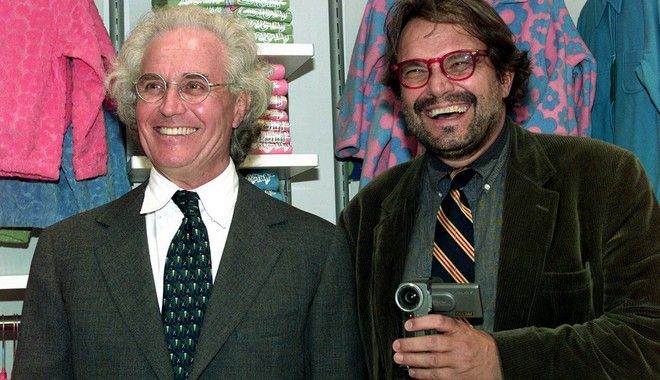 Ο Ολιβιέρο Τοσκάνι με τον Λουτσιάνο Μπένετον το 1989