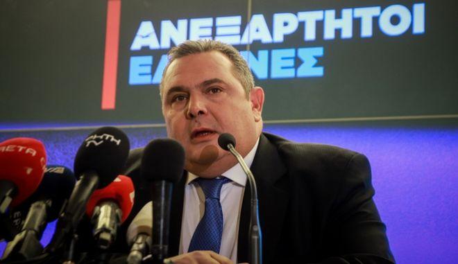 Συνέντευξη τύπου του Προέδρου των Ανεξάρτητων Ελλήνων και υπουργού Εθνικής Άμυνας Πάνου Καμμένου
