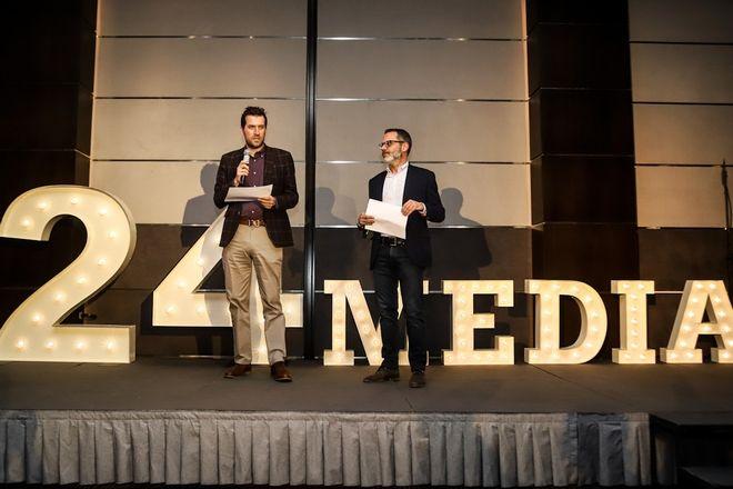 Από αριστερά: Μάνος Μίχαλος, Director of Content & Products και Πάνος Βελαχουτάκος, HR Manager