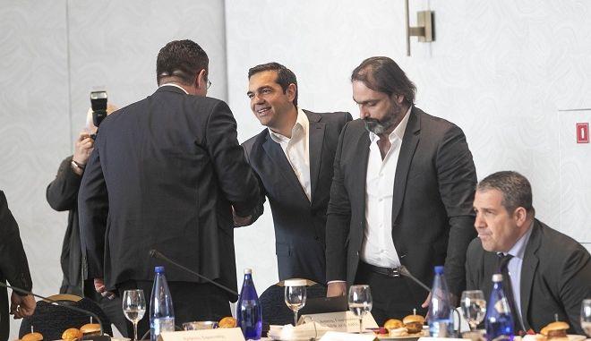 Τσίπρας και επιχειρηματίες στη Θεσσαλονίκη