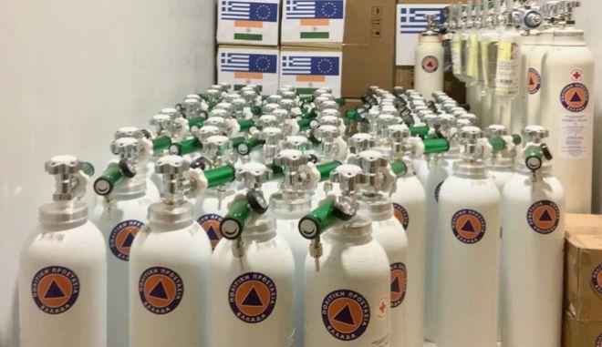 Η Ελλάδα στέλνει 90 φιάλες οξυγόνου στην Ινδία