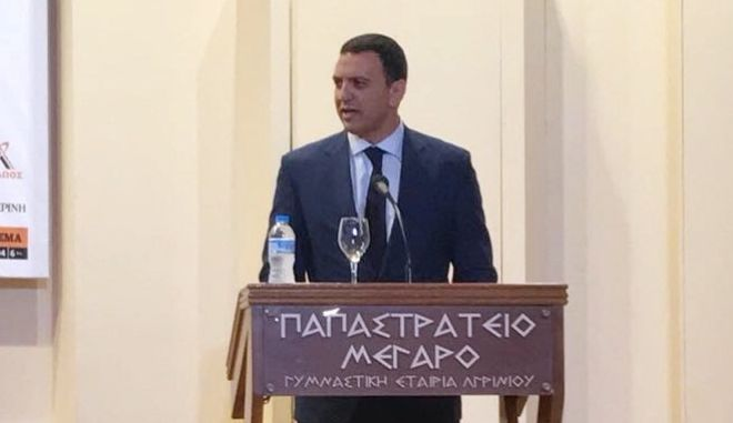 Ο βουλευτής ΝΔ, Βασίλης Κικίλιας από το Αγρίνιο, όπου μίλησε στο Αναπτυξιακό Συνέδριο Αιτωλοακαρνανίας