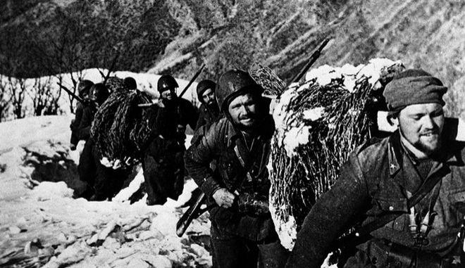 Ιταλοί στρατιώτες στο ελληνοαλβανικό μέτωπο το 1941