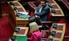 Ο Αλέξης Τσίπρας με την Φώφη Γεννηματά στην Βουλή