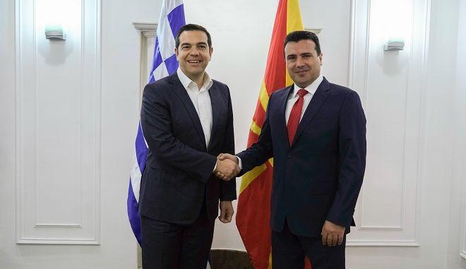 Συνάντηση του Πρωθυπουργού Αλέξη Τσίπρα με τον Πρωθυπουργό της Βόρειας Μακεδονίας Ζόραν Ζάεφ την Τρίτη 2 Απριλίου 2019.
