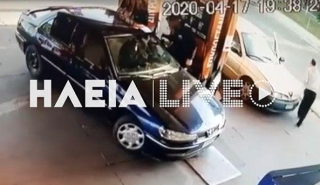 Πύργος: Έβαλε τζάμπα βενζίνη και χτύπησε τον πρατηριούχο με το αυτοκίνητο