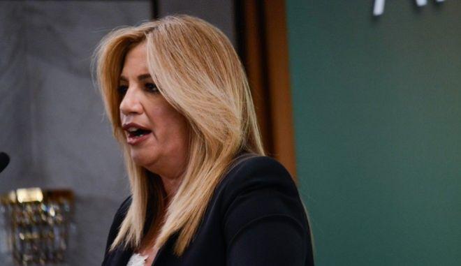 Η Πρόεδρος του ΠΑΣΟΚ και Επικεφαλής της Δημοκρατικής Συμπαράταξης Φώφη Γεννηματά μίλησε σήμερα το απόγευμα σε στελέχη εργασιακών και επαγγελματικών χώρων στο ξενοδοχείο Caravel. Δευτέρα, 2 Οκτωβρίου 2017 (EUROKINISSI / ΛΥΔΙΑ ΣΙΩΡΗ)