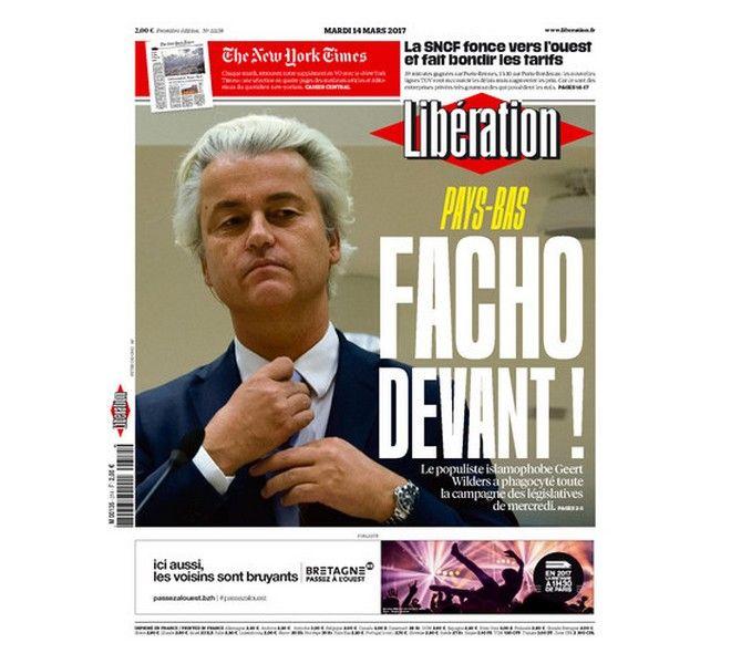 Liberation για ολλανδικές εκλογές: 'Ο φασίστας μπροστά'