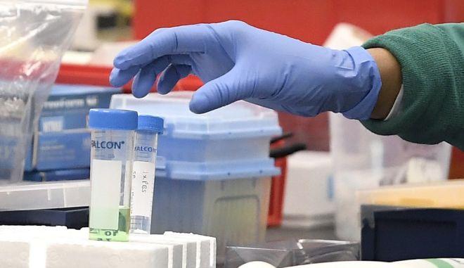 Ερευνητές σε εργαστήριο της Αγγλίας αναζητούν το αντίδοτο στον κορονοϊό