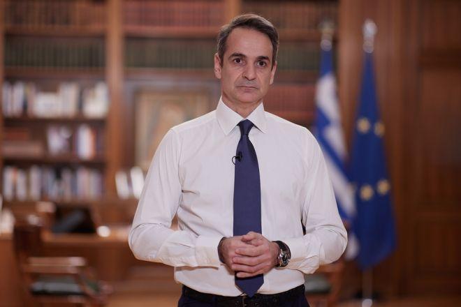 Διάγγελμα του Πρωθυπουργού Κυριάκου Μητσοτάκη για νέο καθολικό κλείσμο (locdown) 15 ημερών, για τον περιορισμό της διασποράς της πανδημίας Covid-19, Τρίτη 9 Φεβρουαρίου 2021 (EUROKINISSI/Γ.Τ ΠΡΩΘΥΠΟΥΡΓΟΥ/ ΔΗΜΗΤΡΗΣ ΠΑΠΑΜΗΤΣΟΣ)