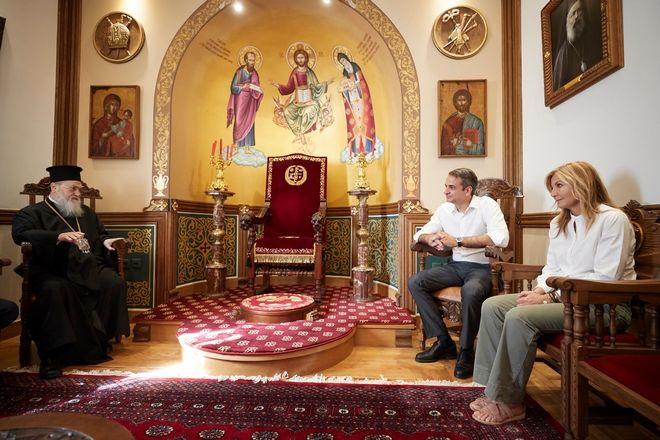 Ο κ. Μητσοτάκης επισκέφθηκε τον Σεβασμιώτατο Μητροπολίτη Κορινθίας κ. Διονύσιο.