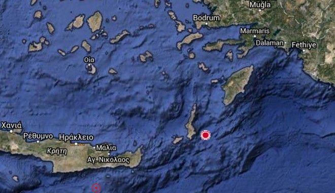 Σεισμός 5,1 Ρίχτερ κοντά στην Κάρπαθο